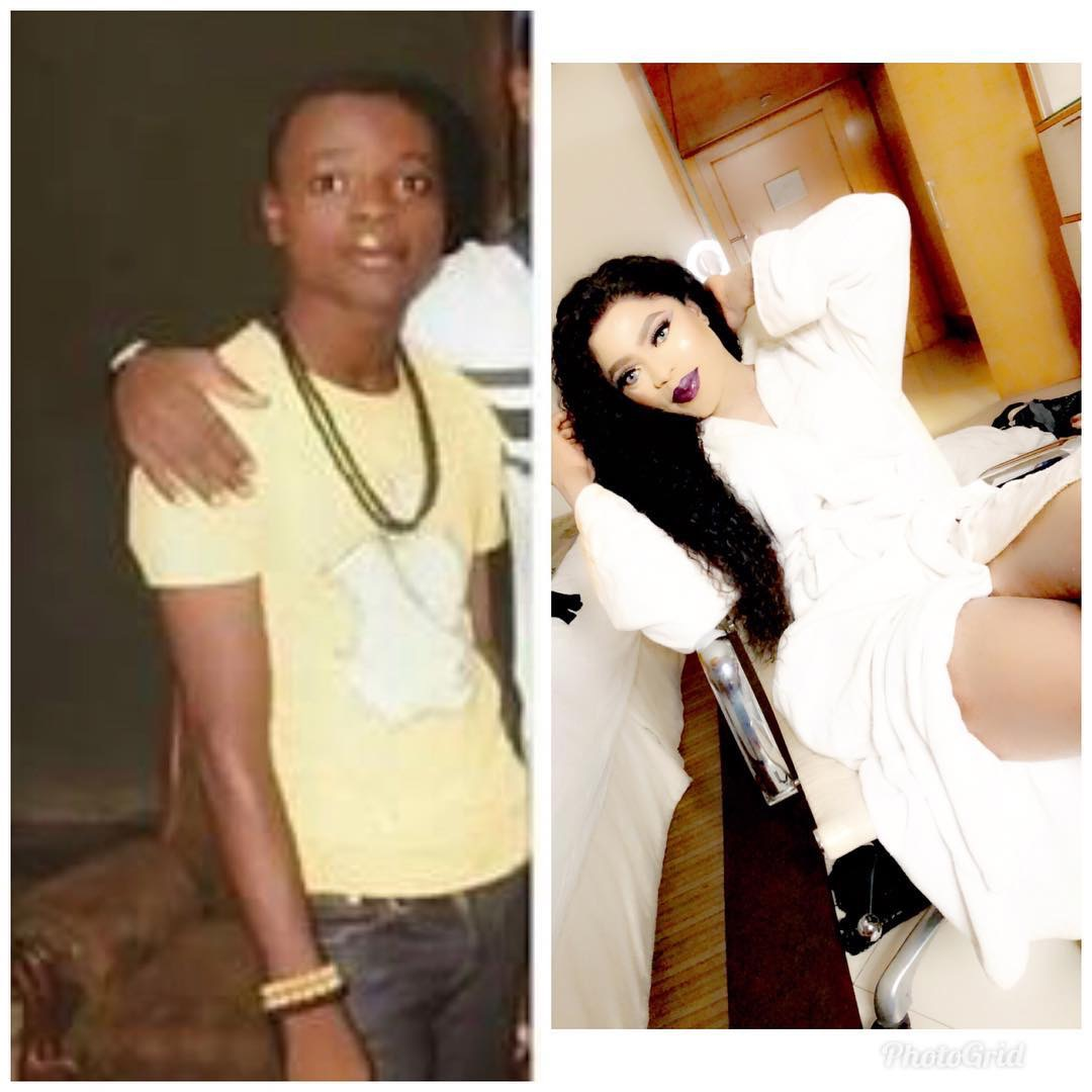 Money is power-Bobrisky shares #10yearchallenge photo