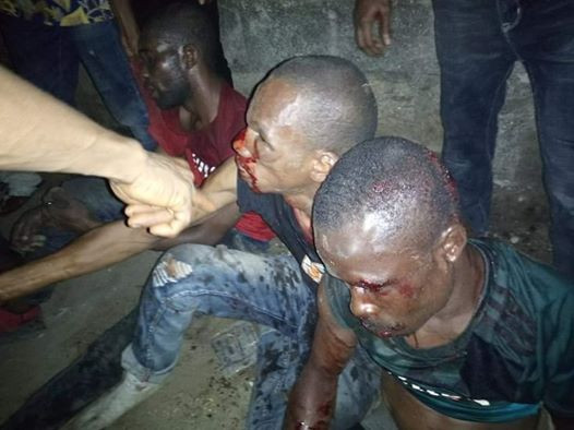 Mob beat thieves blue and black in Uyo