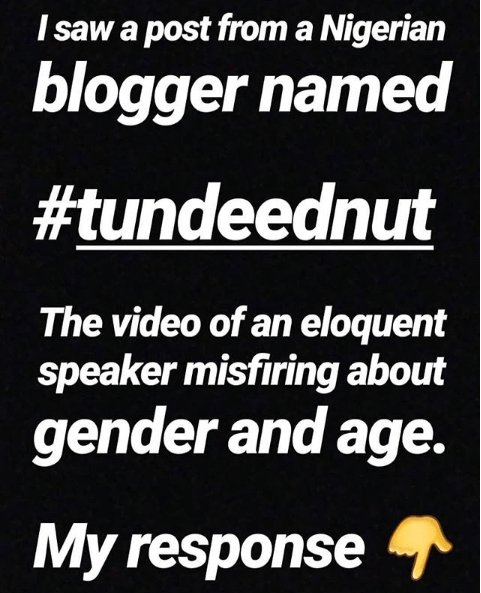 Tunde Ednut Age – The shade room of africa.