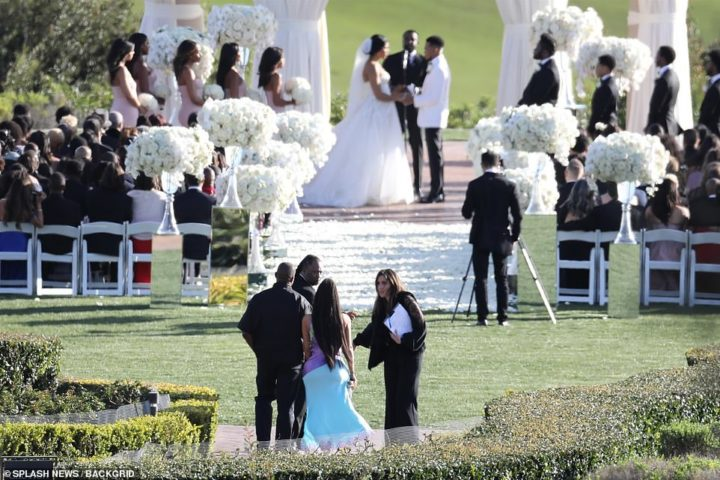 "The moment Kim and Kanye were prevented from ""disrupting"" Chance The Rapper's Wedding"