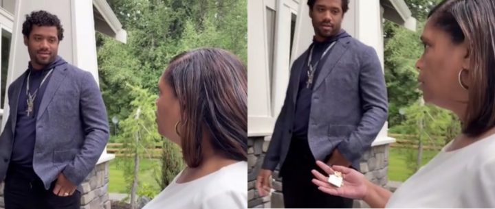 Russell Wilson's mum weeps as he gifts her a house on Mother's Day