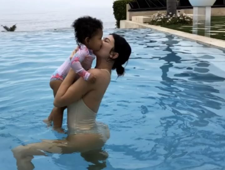 Kylie Jenner and daughter Stormi are adorable in pool photo