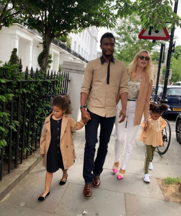 Mikel Obi and family step out in London