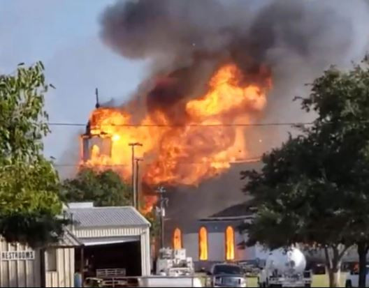 Historic 125-year-old church mysteriously burns to the ground in Texas