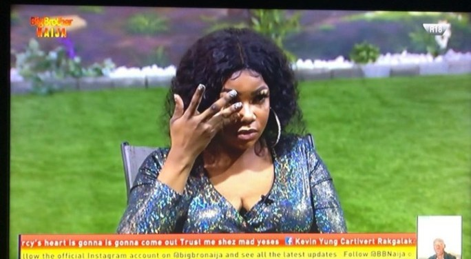 #BBNaija : Tacha in Tears, Begs Mike for Forgiveness (Video)