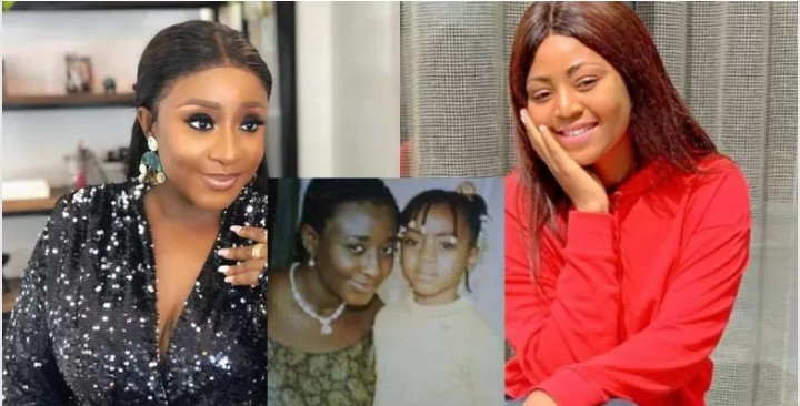 Throwback Picture Of Ini Edo And Regina Daniels As A Little Girl