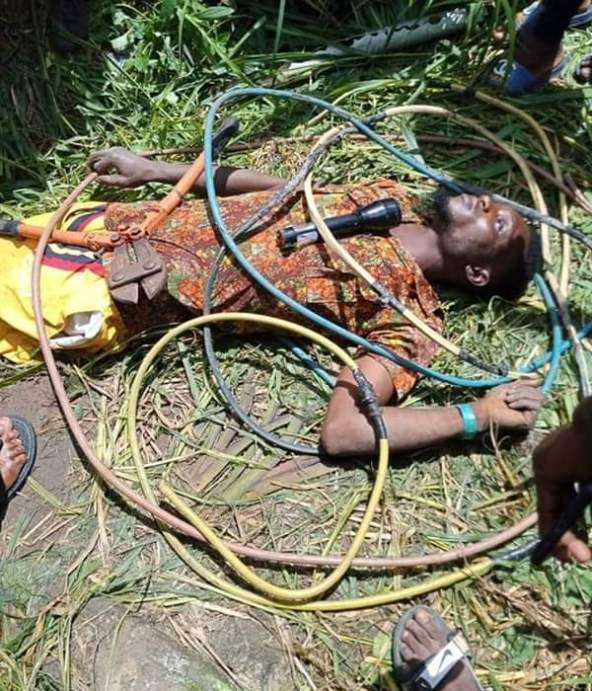 Thief Electrocuted While Stealing Cables From A Transformer In Delta (Photos)