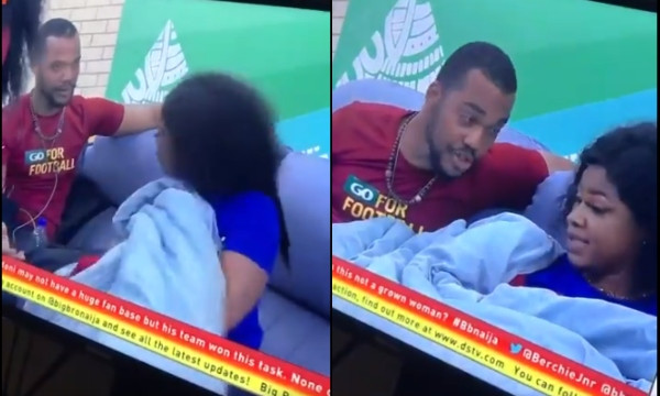 #BBNaija : Tacha hits Joe after he provoked her (Video)