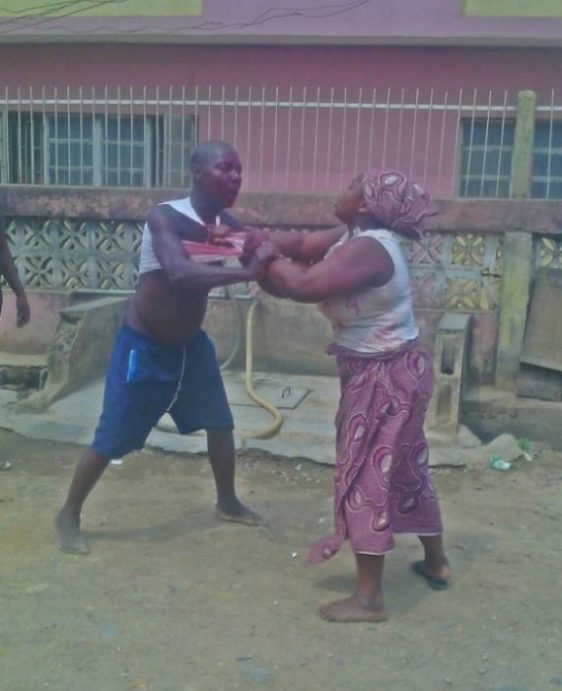 Man Bites Woman's Breast During Fight In Asaba