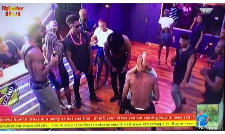 #BBNaija: Watch the Moment Ike almost fought Omashola for Rocking Mercy