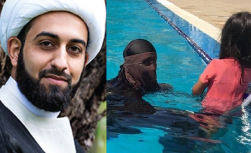 """This is not normal behavior. My heart breaks for her' – Imam of Peace decries 'years of brainwashing' after woman was spotted wearing burqa in a pool"