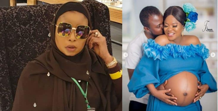 Toyin Abraham reacts after Lizzy Anjorin revealed why she didn't congratulate her