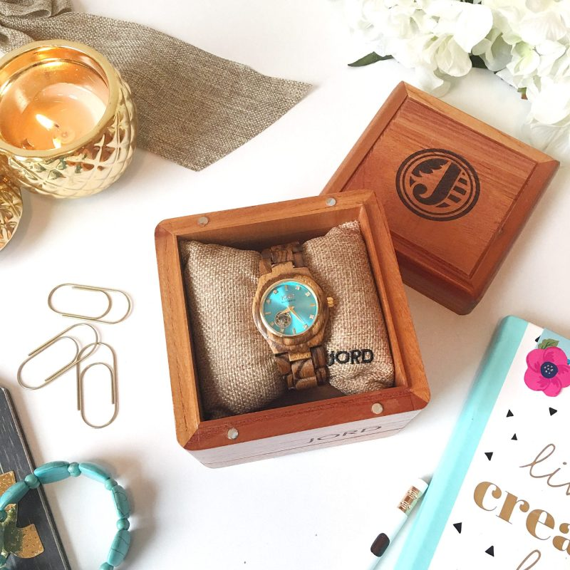 Jord Watches Zebrawood & Turquoise Unboxing + Giveaway