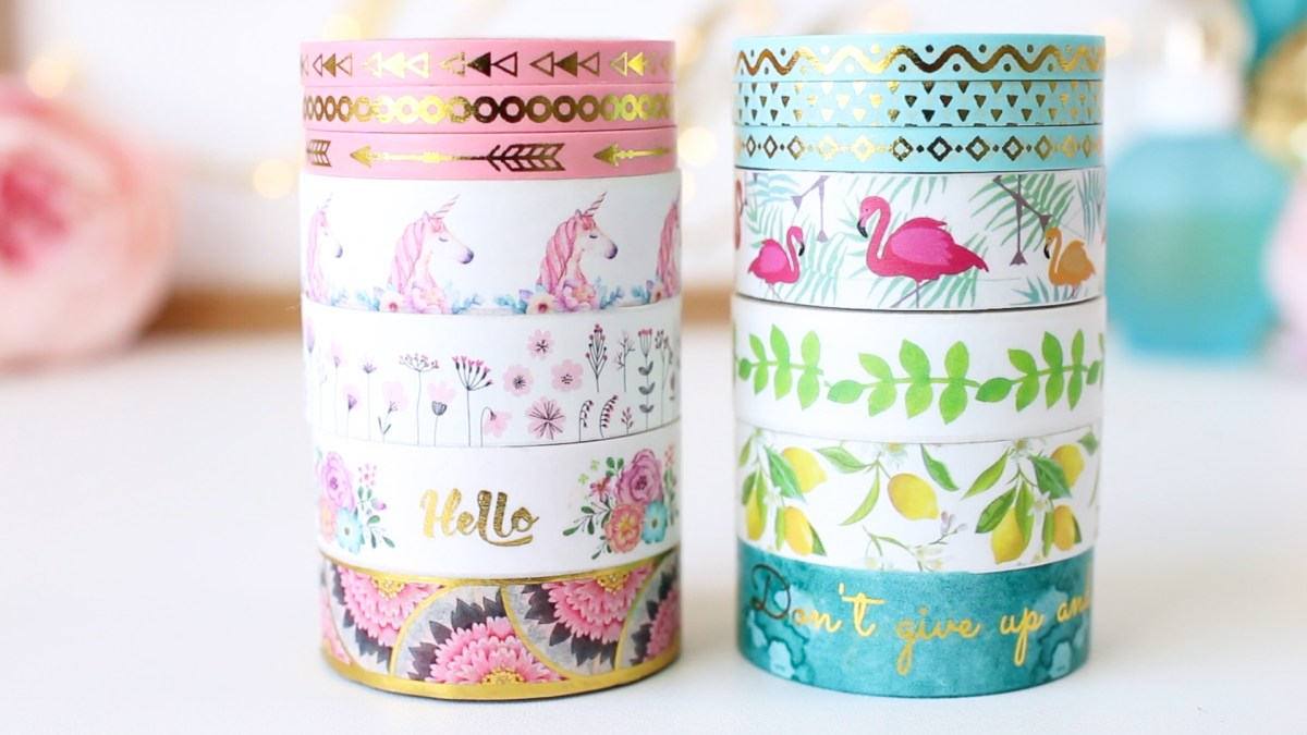 Washi Tape on Amazon: Premium Flamingo & Unicorn Washi Tape Set!