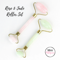 Jade Facial Roller & Rose Quartz Roller Set Weekend Sale!