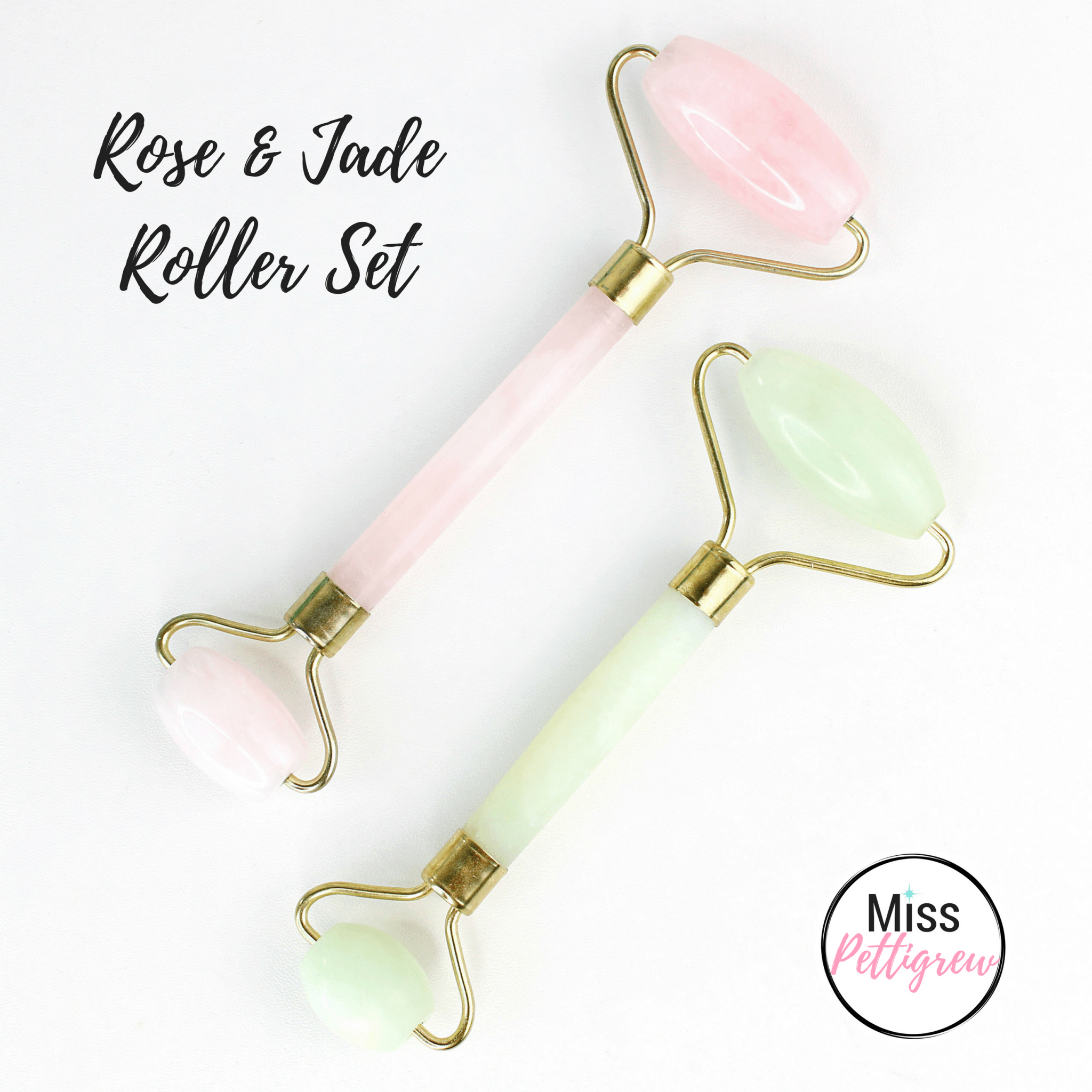 Jade Facial Roller Rose Quartz Roller Set Weekend Sale Miss