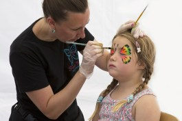 face painting, young girl, artist