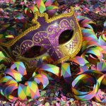 mask, carnival, confetti