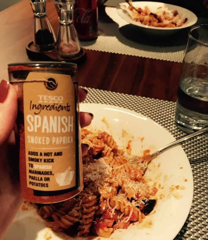 Tesco Spanish smoked paprika garnish