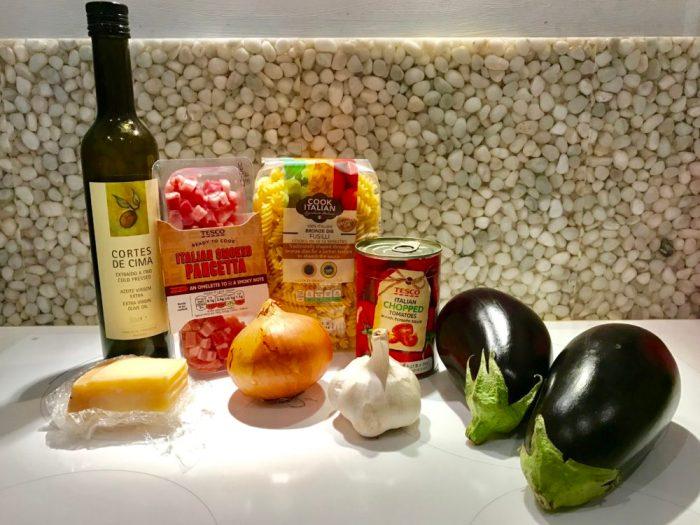 Aubergine Amatriciana Pasta