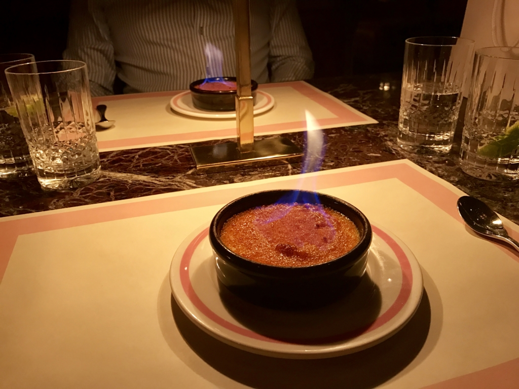 Creme Brulee at Bob Bob Ricard Soho London