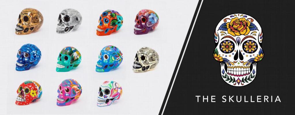 Mexzik Day of the Dead Skulls