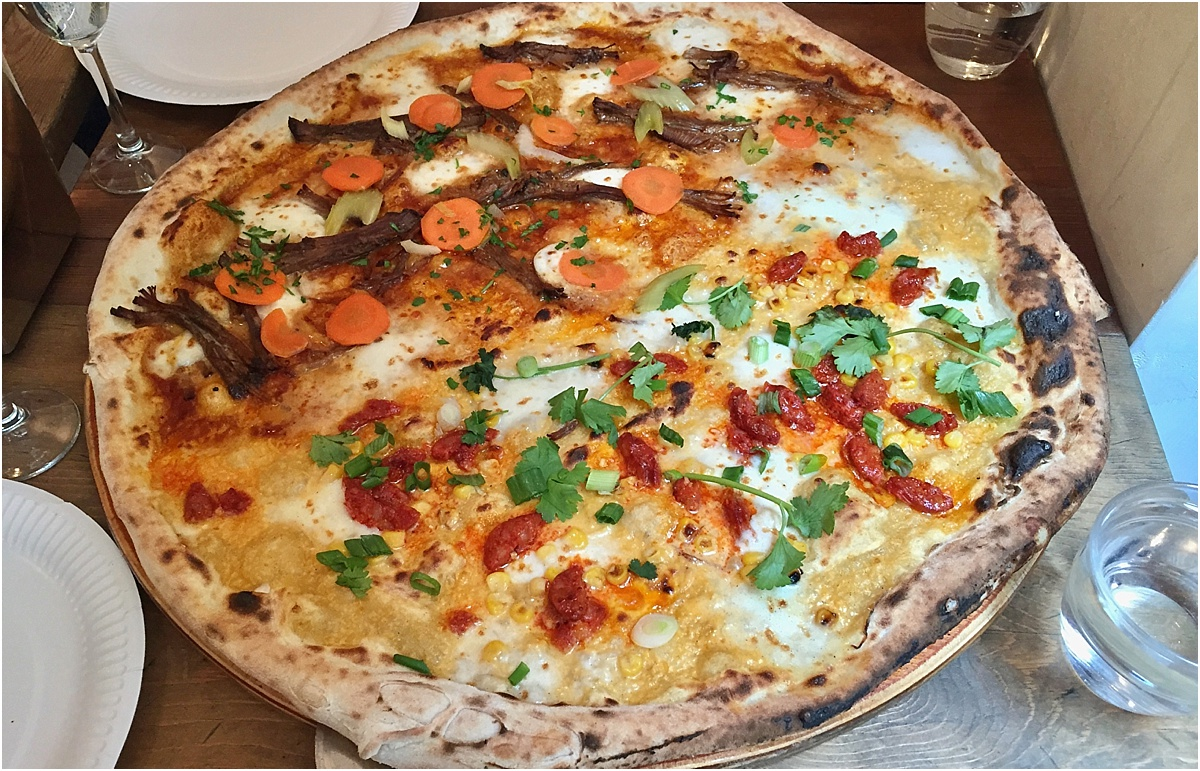 Homeslice Neals Yard Pizza - 10 best restaurants in London - Article written by Lara Olivia Miss Portmanteau - Club Elsewhere - The World's Travel Diary edited by Rosie Bell