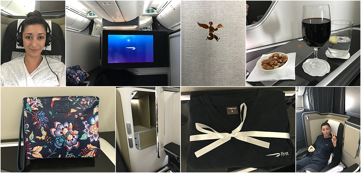 First Class British Airways Amenities