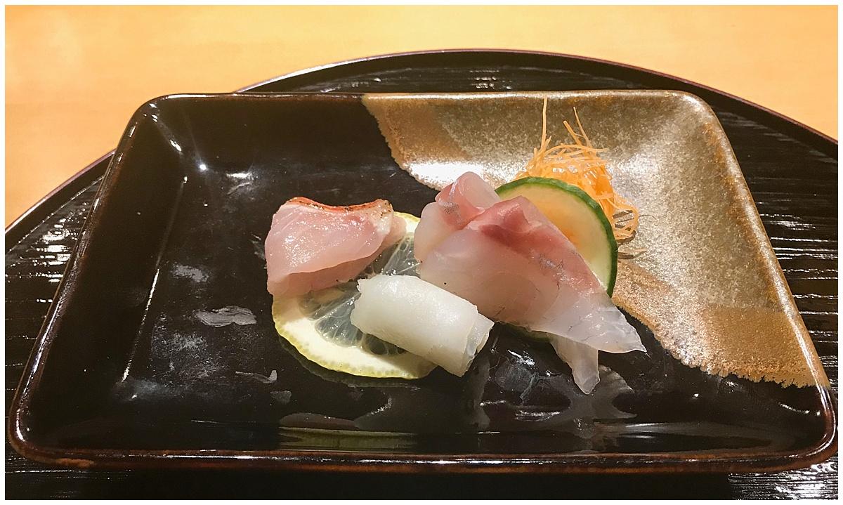 Sushi Tetsu sea bass sashimi