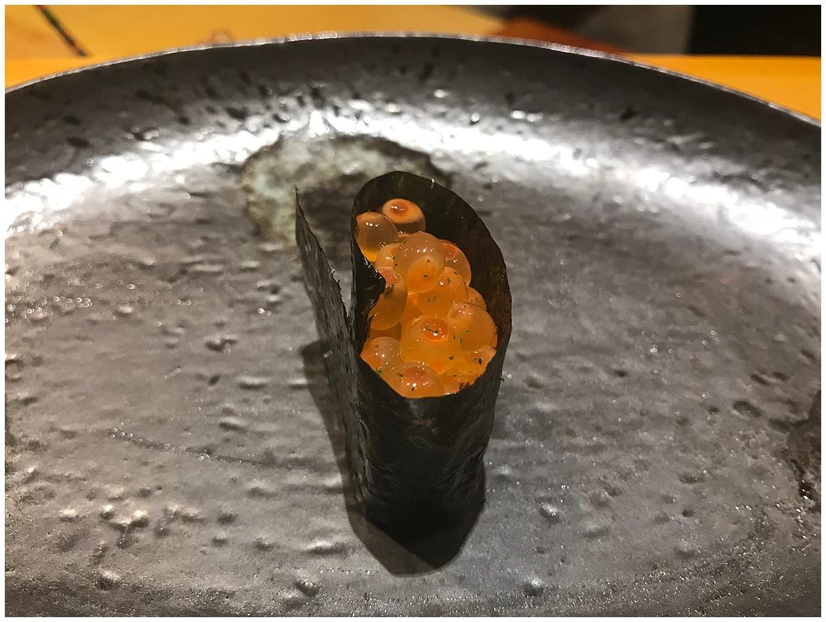 Sushi Tetsu Nigiri ikura