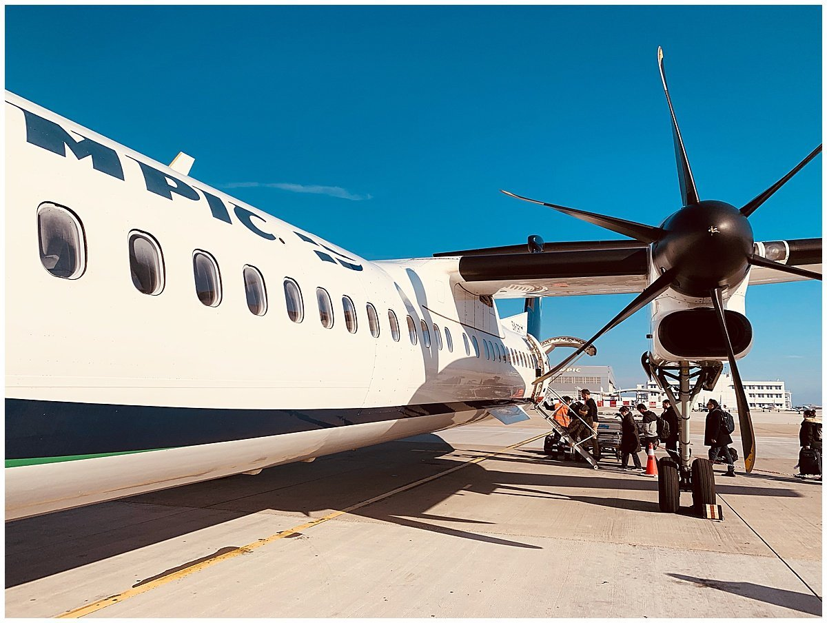 Olympic Air Propeller Plane Athens to Ioannina