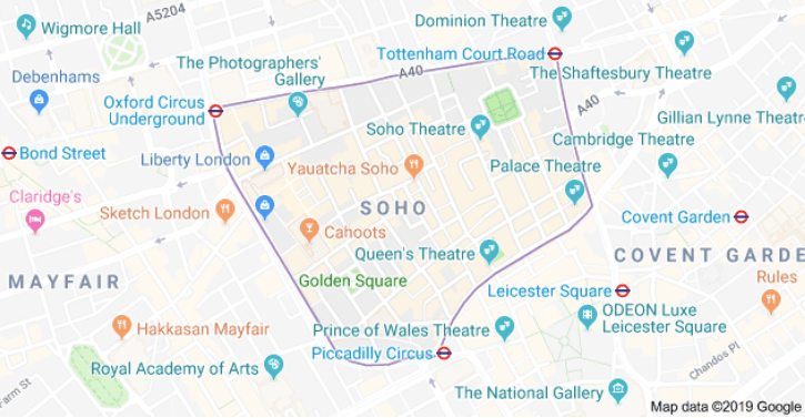 Soho Map London