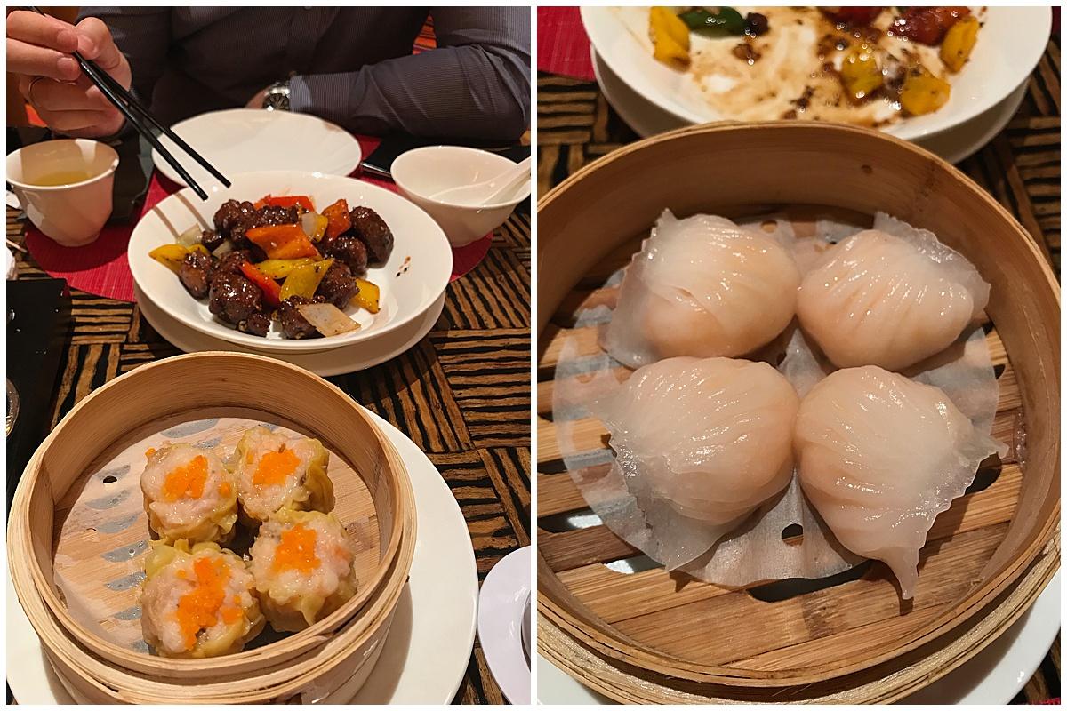 Enjoying Chinese food in Macau