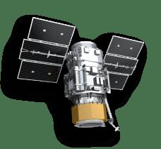 """QuickBird"" Digital Globe Inc. Satellite. launched in 2001. Quickbird from www.digitalglobe.com accessed 10-14-2013"