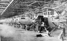 Curtiss JN-4 airplanes in a hangar at Payne Field, West Point, Clay County. photo by U.S. Signal Corps. c1918 accessed from Wikipedia 6-23-2014