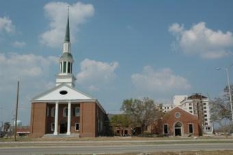 South elevation First Presbyterian Church Gulfport Harrison County MDAH9-25-2005 from MDAH HRI db accessed 8-24-2014