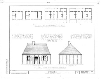 La Pointe Krebs House HABS Drawing. Conjectured elevation. 1940