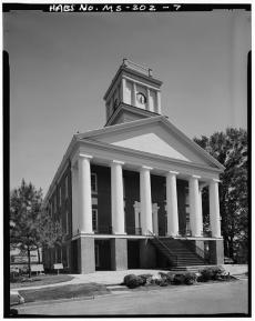 West front, from northwest - Alcorn State University, Oakland Chapel, Alcorn State University Campus, Alcorn, Claiborne County, MS. Gil Ford, photographer, c.1980.