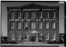East front, main building - Corinth Machinery Company. HABS photographer, Jack E. Boucher, March 1975.