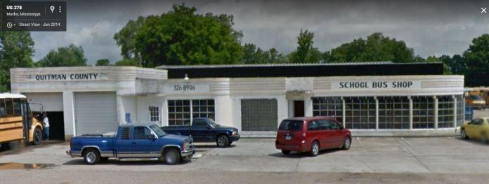 former Pan Am Station Marks, Mississippi June 2014 Google Streetview