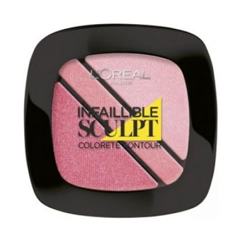 Colorete Infalible Sculpt Trio Contouring Blush Nu 201 Soft Rosy
