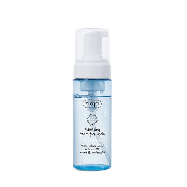 Limpiador facial en espuma para pieles secas y sensibles. Ziaja