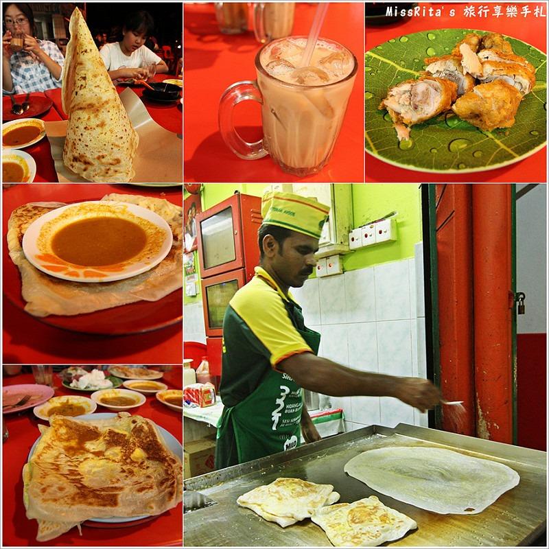 馬來西亞 推薦小吃 Restoran Ayoob 24H 印度甩餅 ROTI 拉茶0
