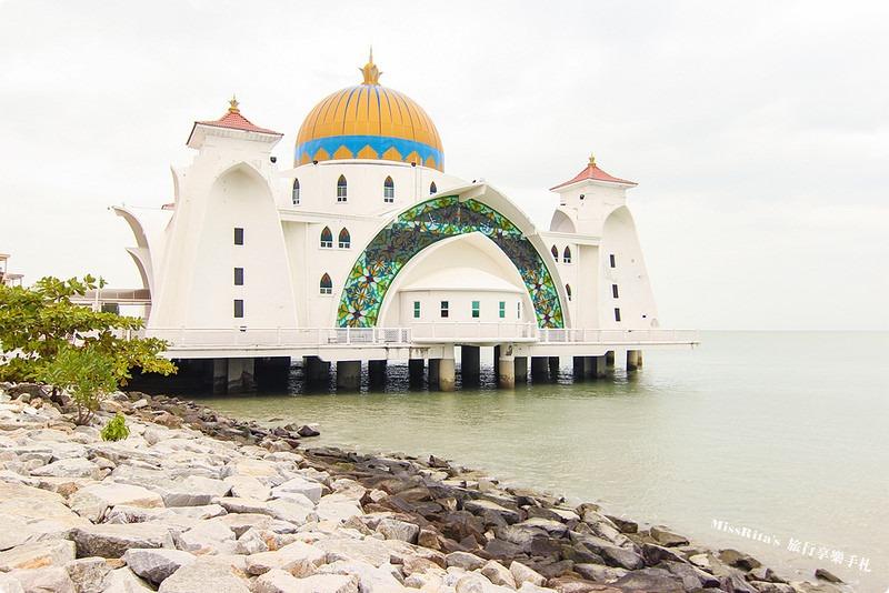 馬來西亞 麻六甲 馬六甲景點 Malacca Straits Mosque 清真寺 海上清真寺 Masjid Selat Melaka Pulau Melaka0