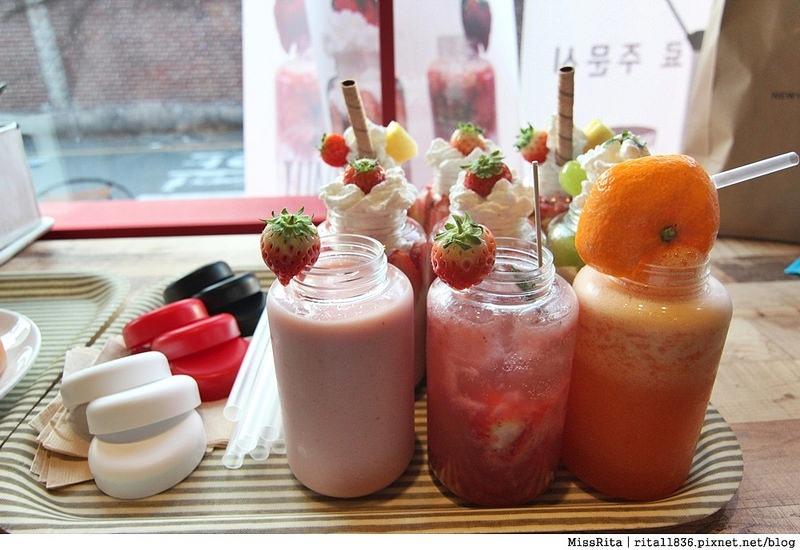 釜山咖啡廳 釜山美食 釜山西面 U:Dally udally Busan u dally西面 韓國草莓奶昔8