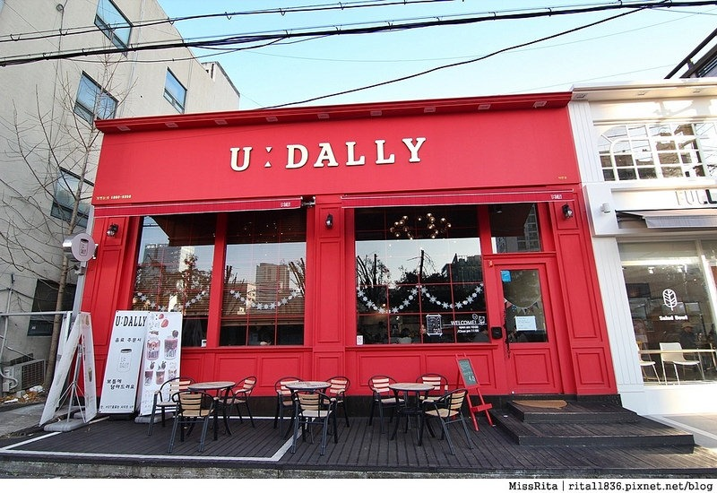 釜山咖啡廳 釜山美食 釜山西面 U:Dally udally Busan u dally西面 韓國草莓奶昔1
