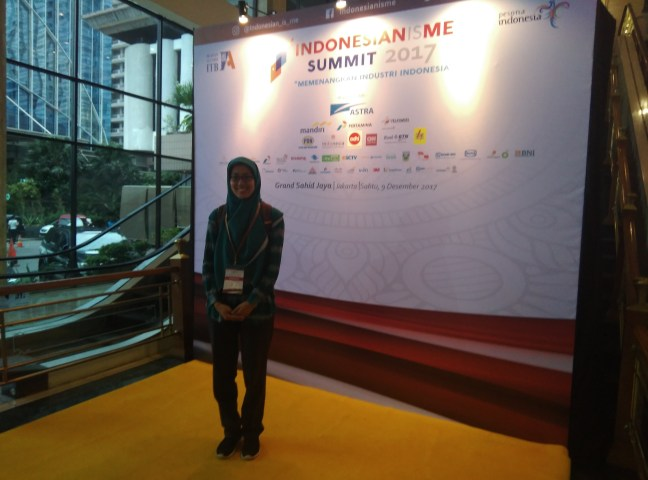 This is me at Indonesianisme Summit 2017