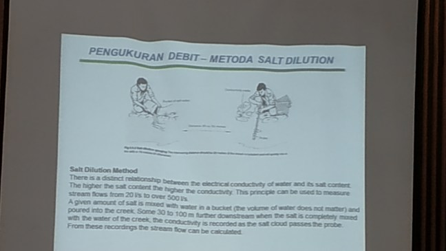 Debit measurement by using salt dilution method