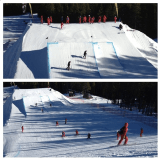 Slip crews on a slopestyle course? See something new everyday at a WC. FIS think of everything.