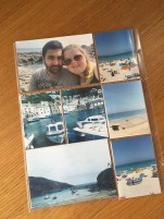 Back of second page, Photos of Polpero, Port Isaac and Porthminster beach in St ives
